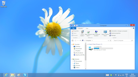 win8 desktop Is Windows 8 faster than Windows 7?