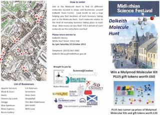 Dalkeith Molecule Hunt entry form