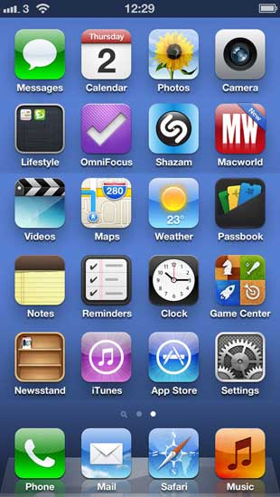 Tap settings on the home screen of your iPhone