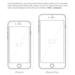 actual size iPhone 6 templates to help you understand the size of the new iPhones compared to your current phone.