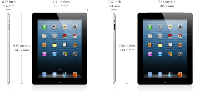 iPad 4 specifications