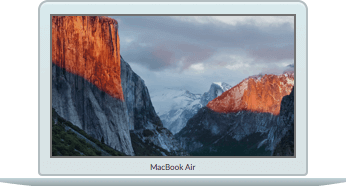 Macbook Air with El Capitan wallpaper