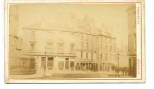 Traill's Temperance Coffee House at 6 Greyfriars Place. It was here that Greyfriars Bobby came at the sound of the One o'clock Gun for his dinner.