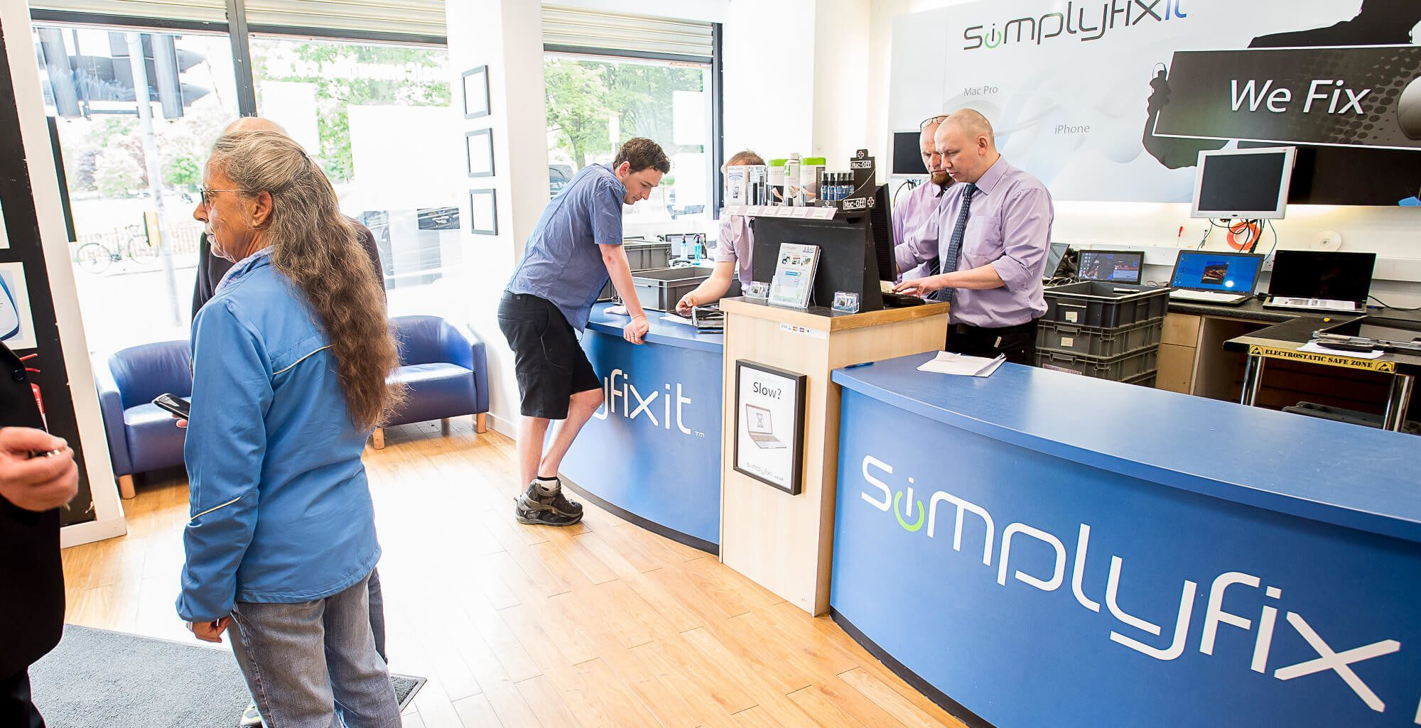 Inside the SimplyFixIt store at Bruntsfield Place