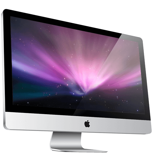 A picture of an apple iMac from 2010