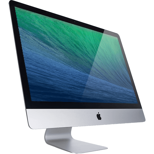 A picture of an apple iMac from 2013