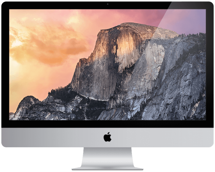 A picture of an apple iMac from 2014