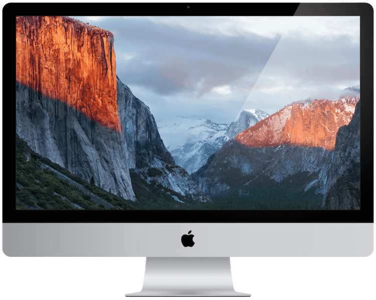 A picture of an apple iMac from 2015