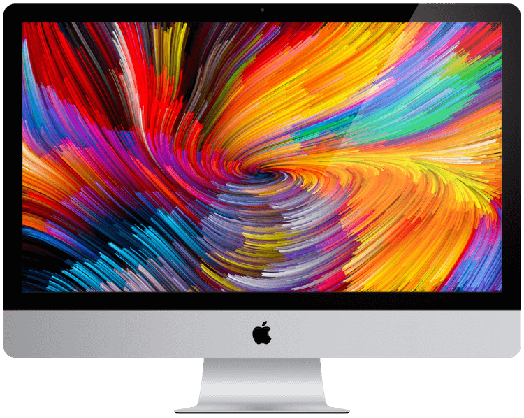 A picture of a Retina 4K Apple iMac from 2017