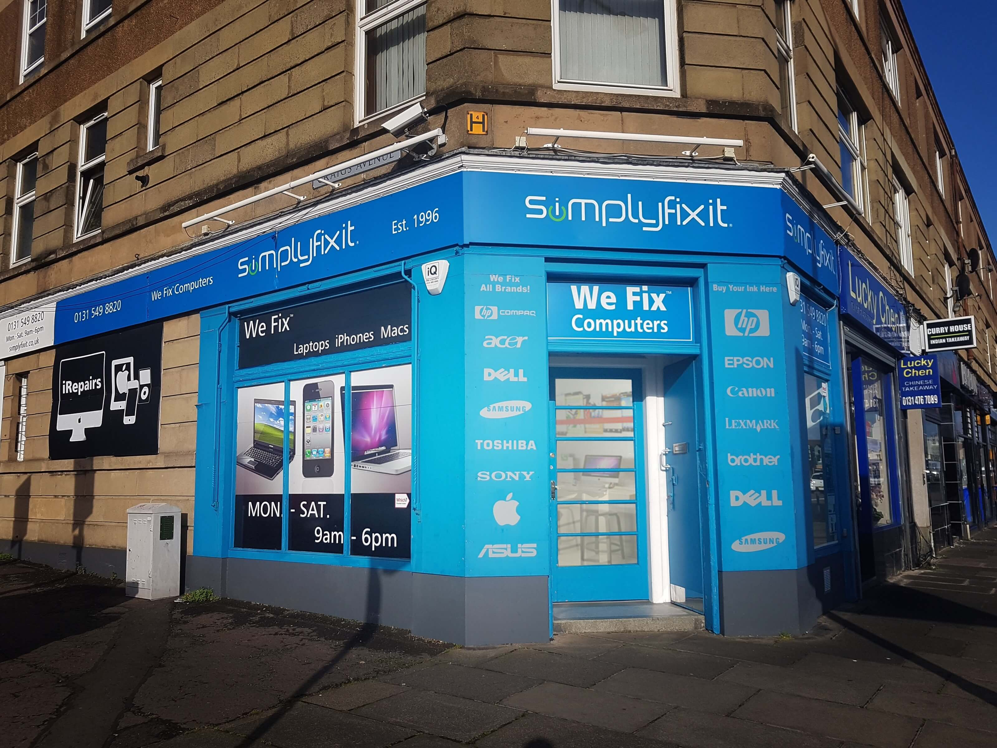 SimplyFixIt at Glasgow Road, Corstorphine.